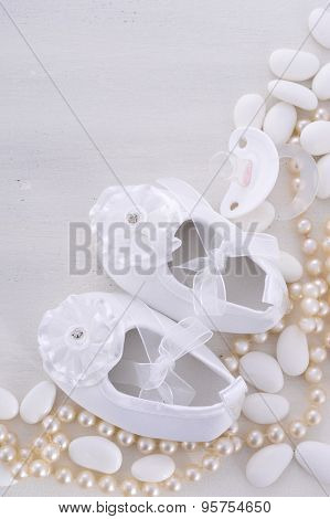 Baby Shower Neutral White Background.