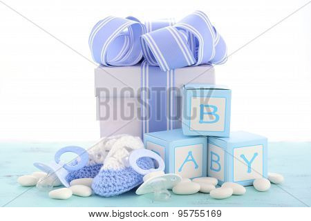 Baby Shower Its A Boy Blue Gift