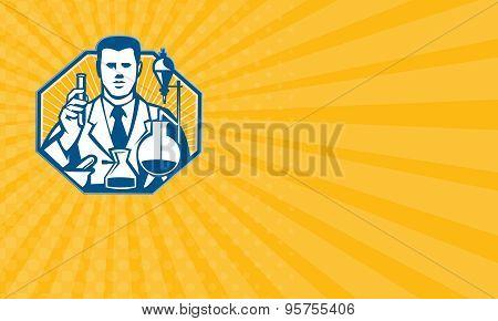 Business Card Scientist Lab Researcher Chemist Retro