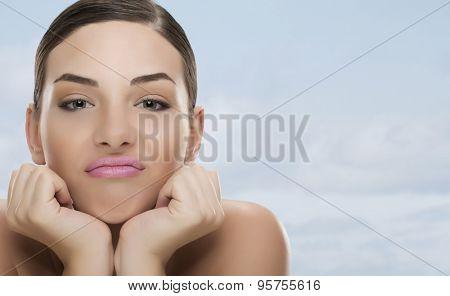 Nice woman grimace