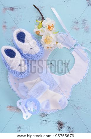 Its A Boy Baby Shower Or Nursery Background