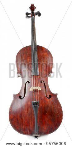 Cello isolated ob white