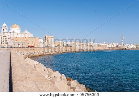 Panorama Of Cadiz In Spain