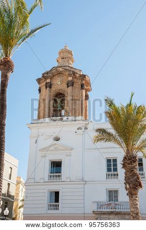 The Bell Tower Of City Hall Building In Cadiz