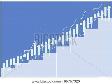 stock market chart illustration