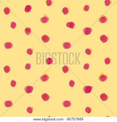 Red spots pattern on yellow background.