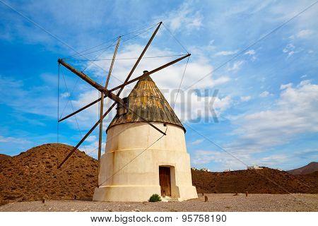Almeria Molino de los Genoveses windmill traditional in Spain