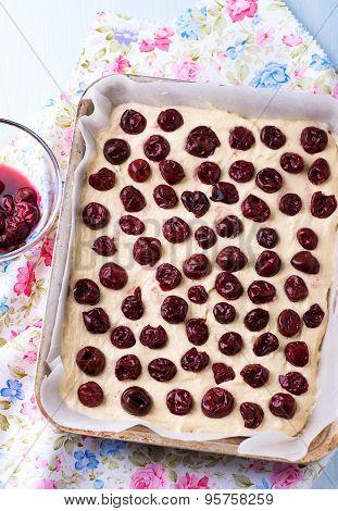 Raw Homemade Cherry Cake