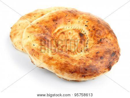 Pita bread isolated on white