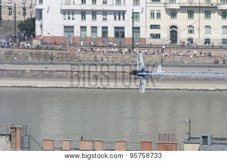 Budapest Air Race Over Danube River