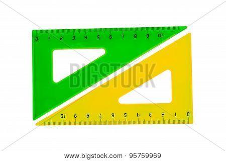 School accessory - triangle over white background