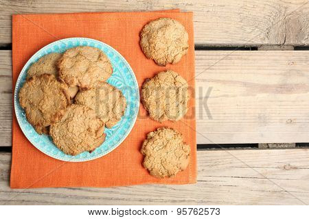 Homemade cookies on table close up