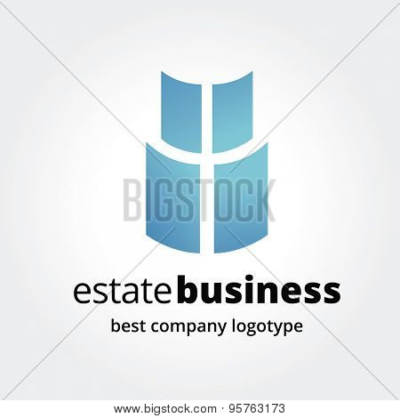 Abstract window logotype concept isolated on white background. Key ideas is business, abstract, window, open, command, colored