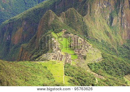 Breathtaking View From Machu Picchu Mountain.