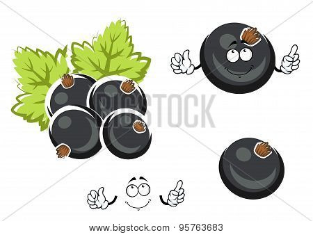 Black currant berry cartoon character