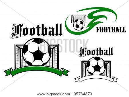 Football and soccer game symbols