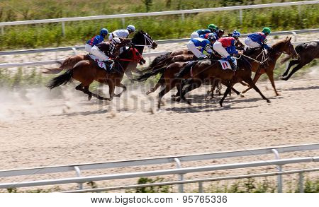 Horse Racing In Pyatigorsk City