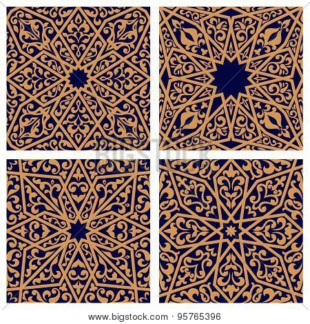 Seamless patterns of arabic ornament