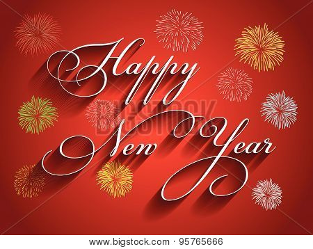 Beautiful text Happy New Year 2016  illustration