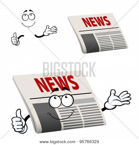 Newspaper character with news headline