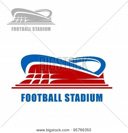 Football or soccer stadium building icon