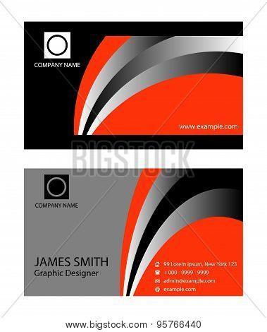 Business card design. Business card set, vector design
