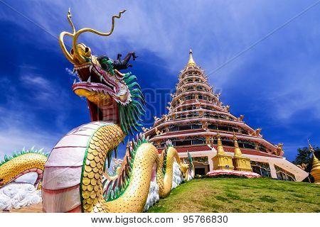 Wat Hyua Pla Kang, Chinese temple in Chiang Rai Thailand,