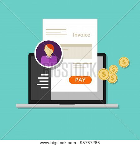 invoice invoicing online service pay
