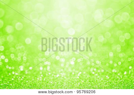 Green Sparkly Glitter Background