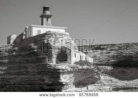 Madonetta Lighthouse. Bonifacio, Corsica
