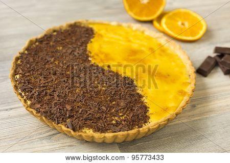 Homemade Orange And Chocolate Tarte