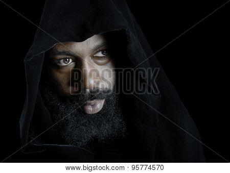 Nice Striking Portrait Of a muslim man on Black