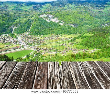Swiss village near Reichenbach in Switzerland