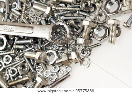 Wrench on nuts and bolts