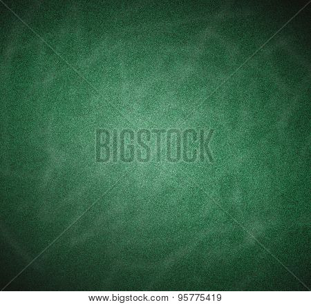 Perspective closeup view to abstract art space of empty light clean, blank green chalkboard, blackboard texture with copy space An old pattern background in white chalk lines, tracks, traces, vestiges