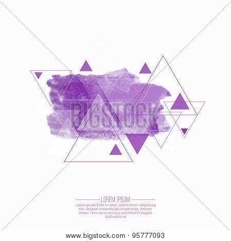 Abstract  background with hipster triangles