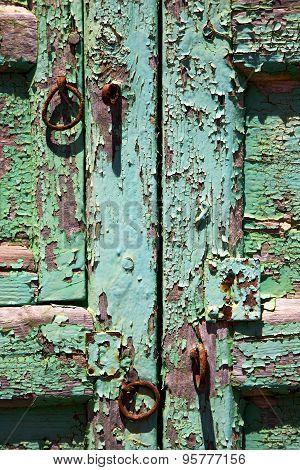 Abstract  Closed Wood  Door  Lanzarote