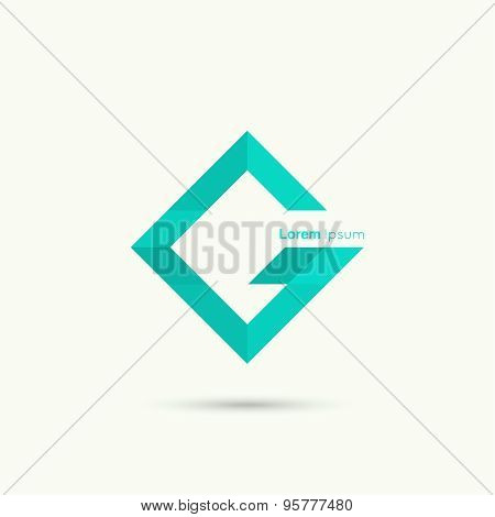 Abstract vector logo design template.