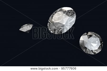 3D render of diamonds