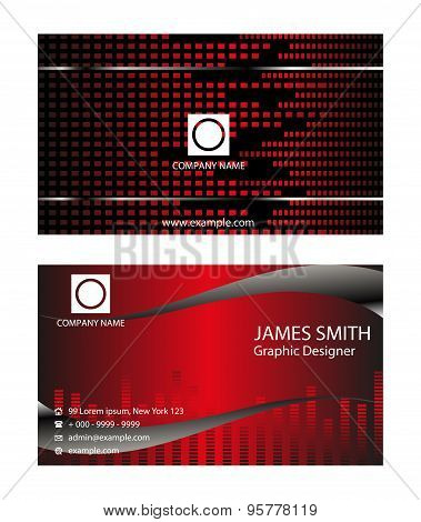 Modern business card template. Modern Business - Card Set design.