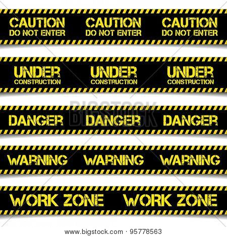 detailed illustration of Construction Caution Lines, eps10 vector
