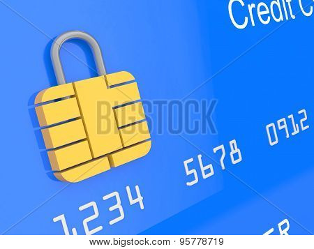 3d credit card security concept
