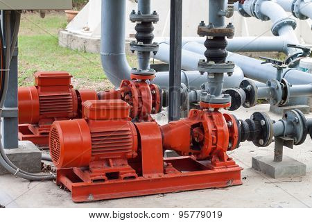 Red Water Pumping And Pipes