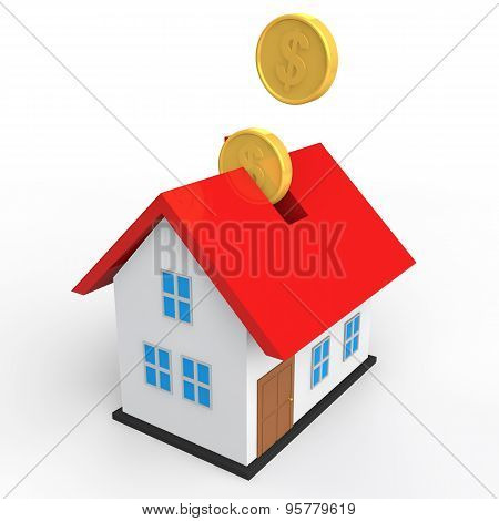 3d house savings concept