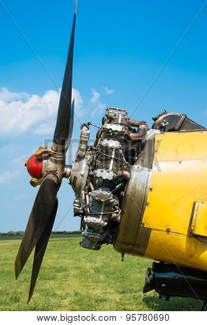 Old aircraft engine