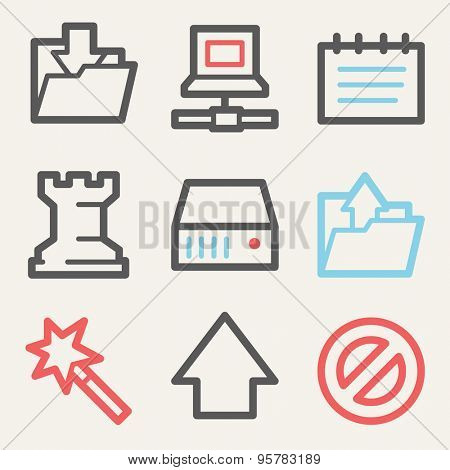 Data web icons, square buttons