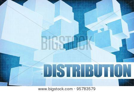 Distribution on Futuristic Abstract for Presentation Slide