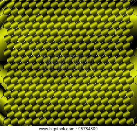 Honeycomb green background design vector illustration template