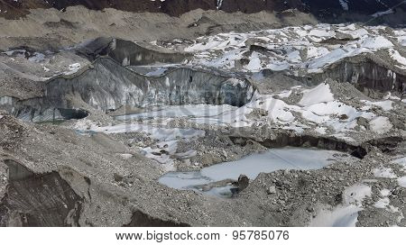 Detail Of The Ngozumba Glacier