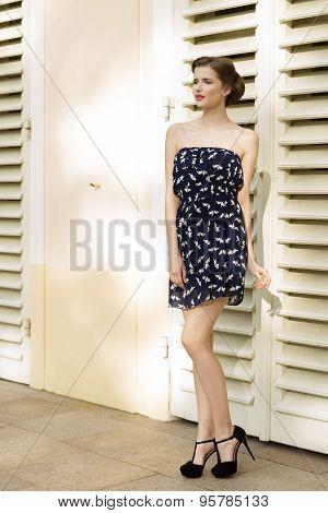 Fashion Girl In Summertime